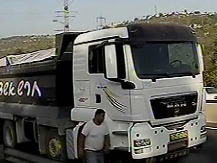 תאונה בכביש מס 1 (צילום: חדשות 2)
