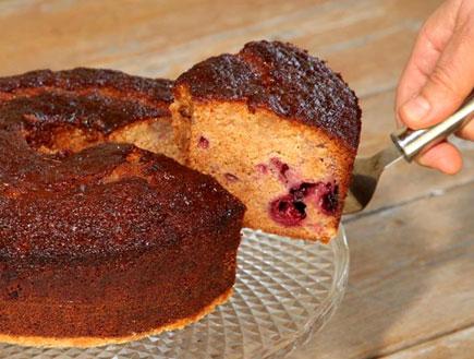 עוגת דבש ופירות יער (צילום:  יחסי ציבור )