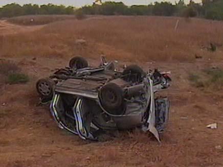 תאונת דרים קטלנית סמוך למושב יכיני (צילום: חדשות 2)