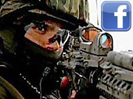 חייל בפייסבוק (צילום: חדשות 2)