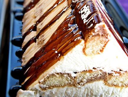 עוגת בישקוטים וגבינה - מוכנה (צילום: דליה מאיר, קסמים מתוקים)