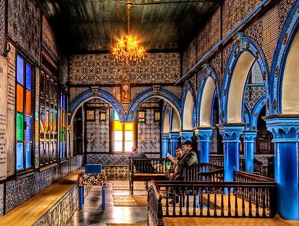 בית הכנסת אל גריבה תוניס - בתי כנסת מרשימים (צילום: האתר הרשמי)