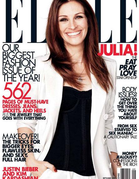ג'וליה רוברטס על שער ELLE ספטמבר (צילום: האתר הרשמי)