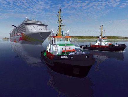 ship simulator (צילום: מקולנד)