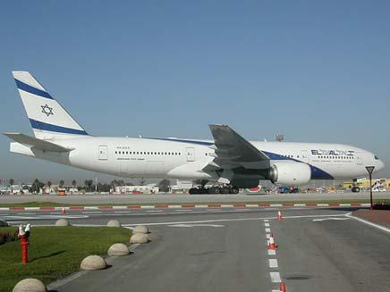 לא ברור מי ישלם. מטוס אל-על (צילום: חדשות 2)