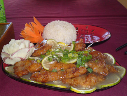 עוף בלימון (צילום: מסעדת סינג לונג)