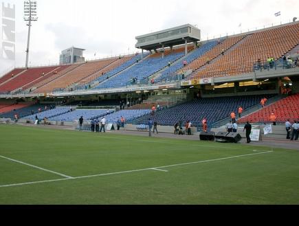 """אצטדיון ר""""ג. מיושן (תומר גבאי) (צילום: מערכת ONE)"""