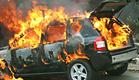 פיצוץ ברכב. ארכיון (צילום: חדשות 2)