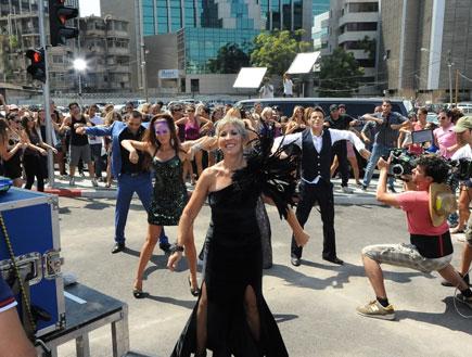 צילומי פרומו רוקדים עם כוכבים דליה מזור (צילום: אלעד דיין)
