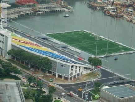 תודו שזה מקורי. האצטדיון הצף בסינגפור (צילום: מערכת ONE)