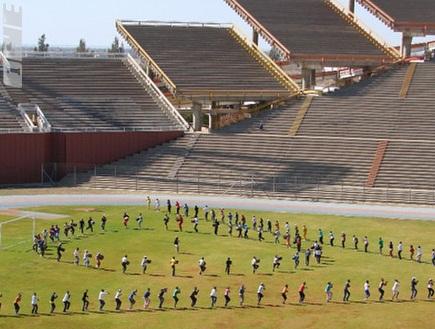 אצטדיון ממבאטו. להסתכל ולהיגעל (צילום: מערכת ONE)