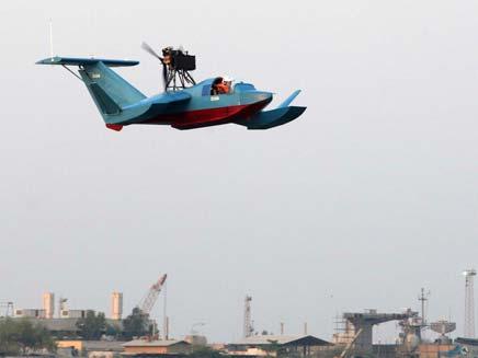 המטוס האמפיבי החדש של אירן (צילום: AP)