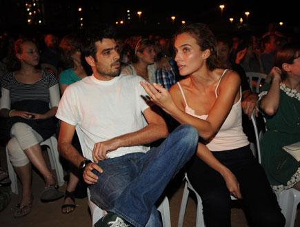 אילנית והחבר, אירוע שלישיית מה קשור (צילום: אלעד דיין)