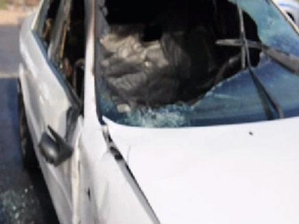 הרכב החשוד בפגיעה בקטנוע, היום (צילום: חיפה-חדשות חמות)