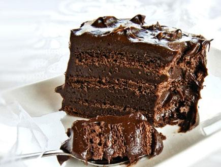 עוגת שוקולד שכבות - קובייה (צילום: דליה מאיר, קסמים מתוקים)