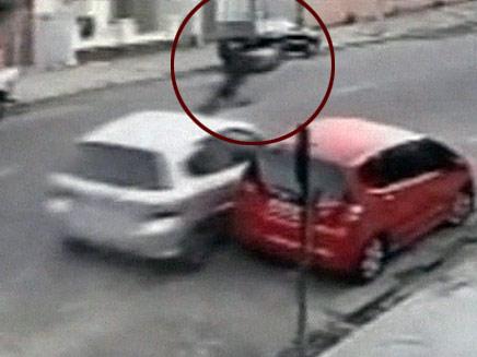 תיעוד התאונה הקשה (צילום: חדשות 2)