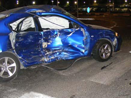 זירת התאונה בליל חמישי, רחובות