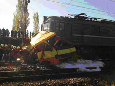 התאונה הקשה, היום (צילום: UKR.NET)