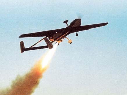 """מל""""ט של התעשייה האווירית מסוג סרצ'ר (צילום: חיל האוויר)"""
