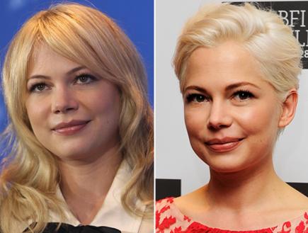 התספורת החדשה של מישל וויליאמס: לפני ואחרי (צילום: Gettyimages IL, Getty images)