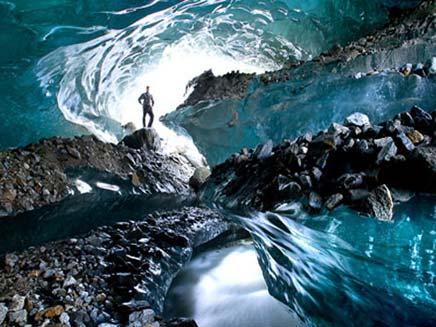 תמונות מתחתית קרחונים (צילום: חדשות 2)