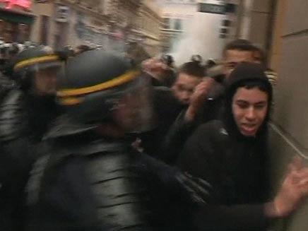מהומות בצרפת (צילום: חדשות 2)