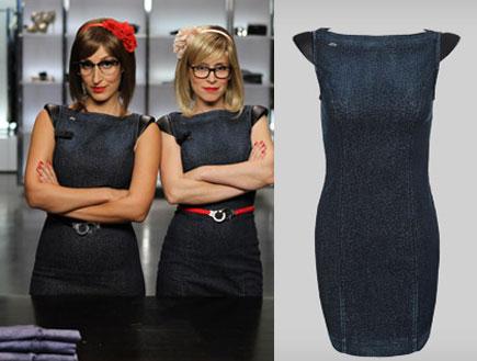 עלמה זק ושני כהן בשמלות אפורות- איפה קנית (צילום: עידו איז'ק)