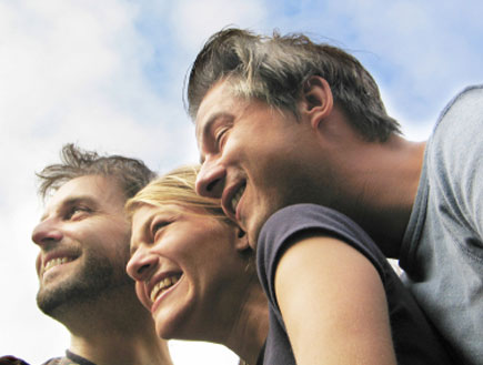 שלושה חברים (צילום: lisegagne, Istock)