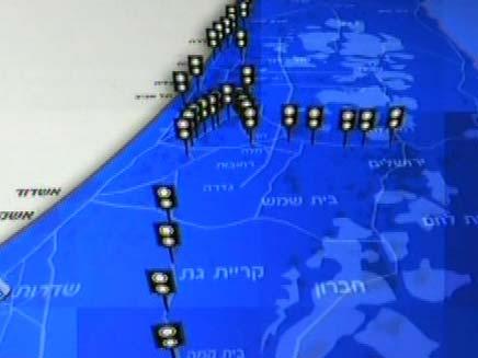 """""""מפת המכמונות"""" החדשות (צילום: חדשות 2)"""