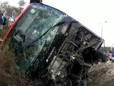 התאונה הקשה, היום בוואדי ערה (צילום: אתר פאנט)