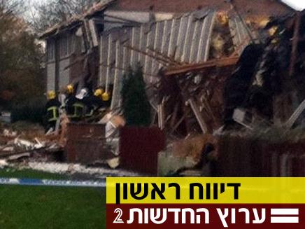 אחד הבתים שקרסו הבוקר (צילום: מינמדיה)