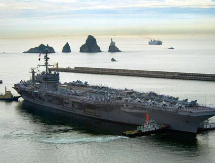 נושאת מטוסים אמריקנית (צילום: Handout, GettyImages IL)