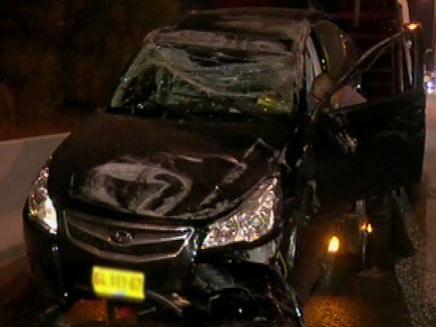 תאונה קשה סמוך למודיעין (צילום: חדשות 2)