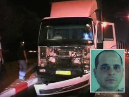 נהג משאית התנגש בעמוד חשמל, ארכיון (צילום: חדשות 2)