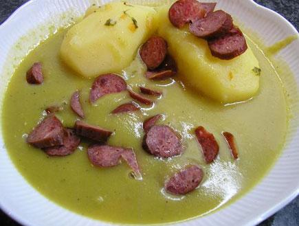 מרק אפונה תפוחי אדמה וקבנוס (צילום: baronm10, אוכל מכל הלב)