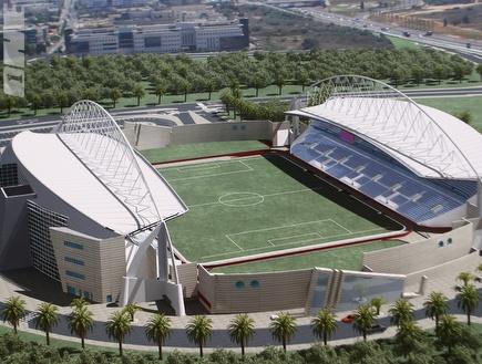 תוכנית האצטדיון בנתניה. מקווים שהעבודות יתקדמו כעת (צילום: מערכת ONE)