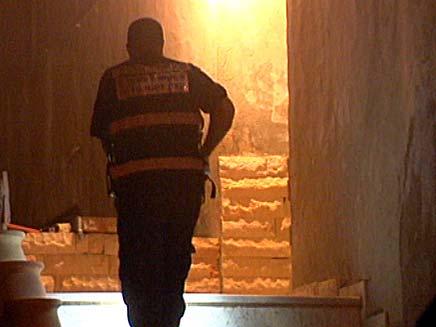 זירת הרצח, הלילה במושב ברקת (צילום: חדשות 2)