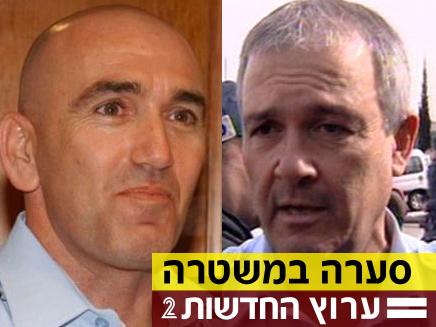 """המפכ""""ל לשעבר אסף חפץ נגד המפכ""""ל הנוכחי דודי כהן (צילום: חדשות 2)"""
