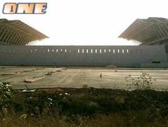 האצטדיון החדש בפתח תקווה. מעורר מחלוקת (צילום: מערכת ONE)