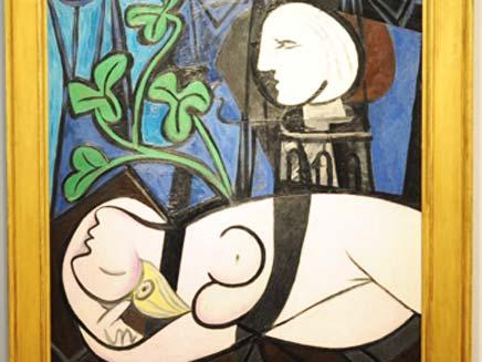 """""""עירום, עלים ירוקים ופסל"""", פיקאסו 1932 (צילום: ניוז קום)"""