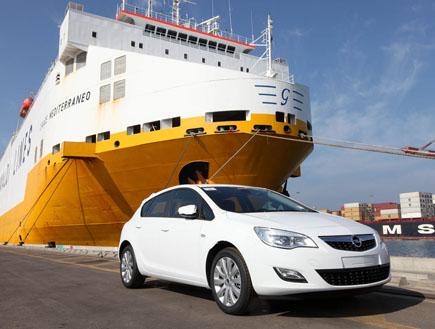 מכוניות אופל בנמל