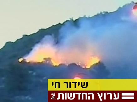 השריפה ליד טירת הכרמל (צילום: חדשות 2)