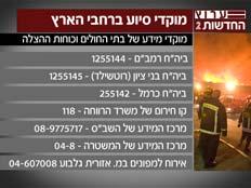 מוקדי הסיוע השונים (צילום: חדשות 2)
