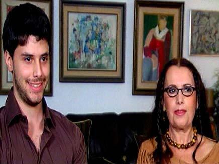 שרה לוין, הבן והגליצרין (צילום: חדשות 2)