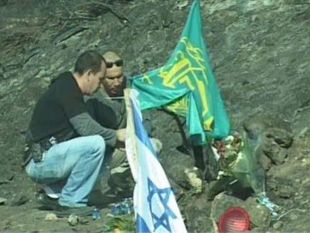 האנדרטה המאולתרת. באדיבות ערוץ 7 (צילום: ערוץ 7)