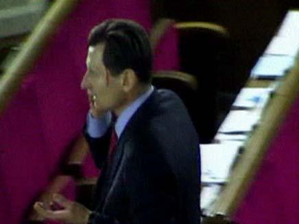 מכות בבית הנבחרים באוקראינה (צילום: חדשות 2)
