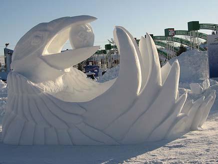 פיסול השלג (צילום: חדשות 2)