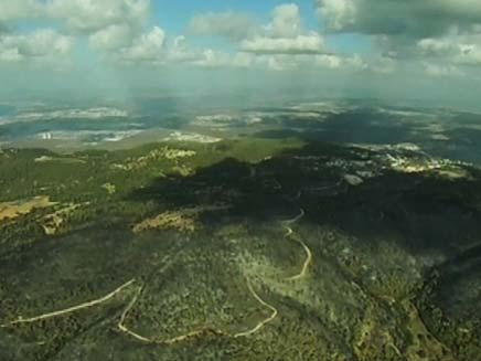 כרמל מלמעלה (צילום: חדשות 2)