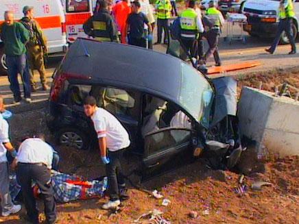 תאונת דרכים קטלנית ליד בית שאן. ארכיון (צילום: חדשות 2)