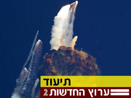 לווין הודי מתפוצץ באוויר (צילום: THE HINDU)